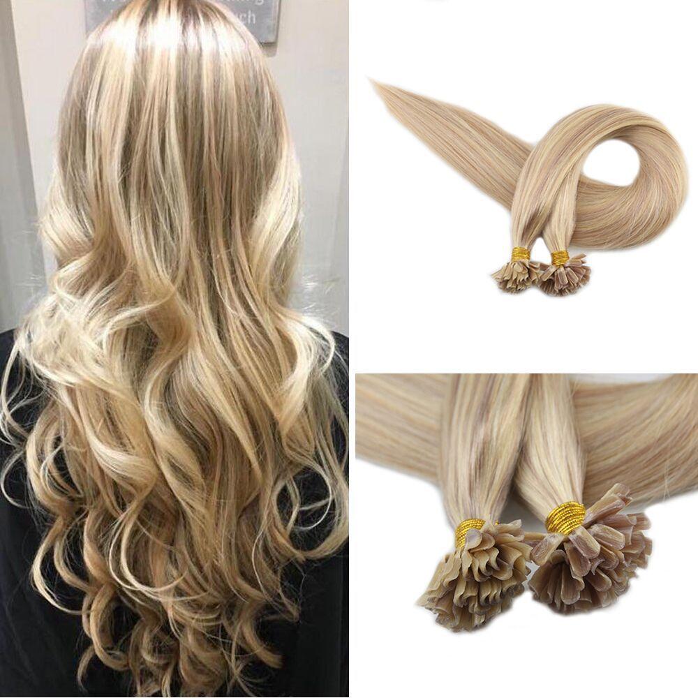 Nail Tip Hair Extensions Human Hair Piano Keratin U Tip Extensions