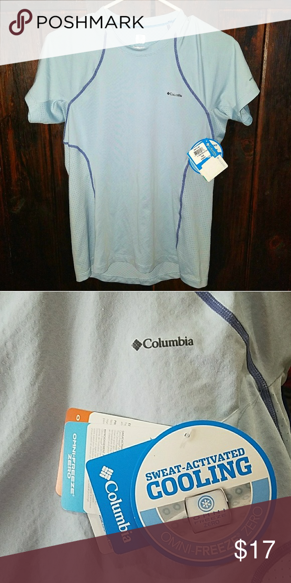 b440935c1b5 NWT- L Columbia 'sweat activated cooling' shirt Brand new, never worn. Size  large 'omni-freeze zero' Columbia shirt. Tops Tees - Short Sleeve