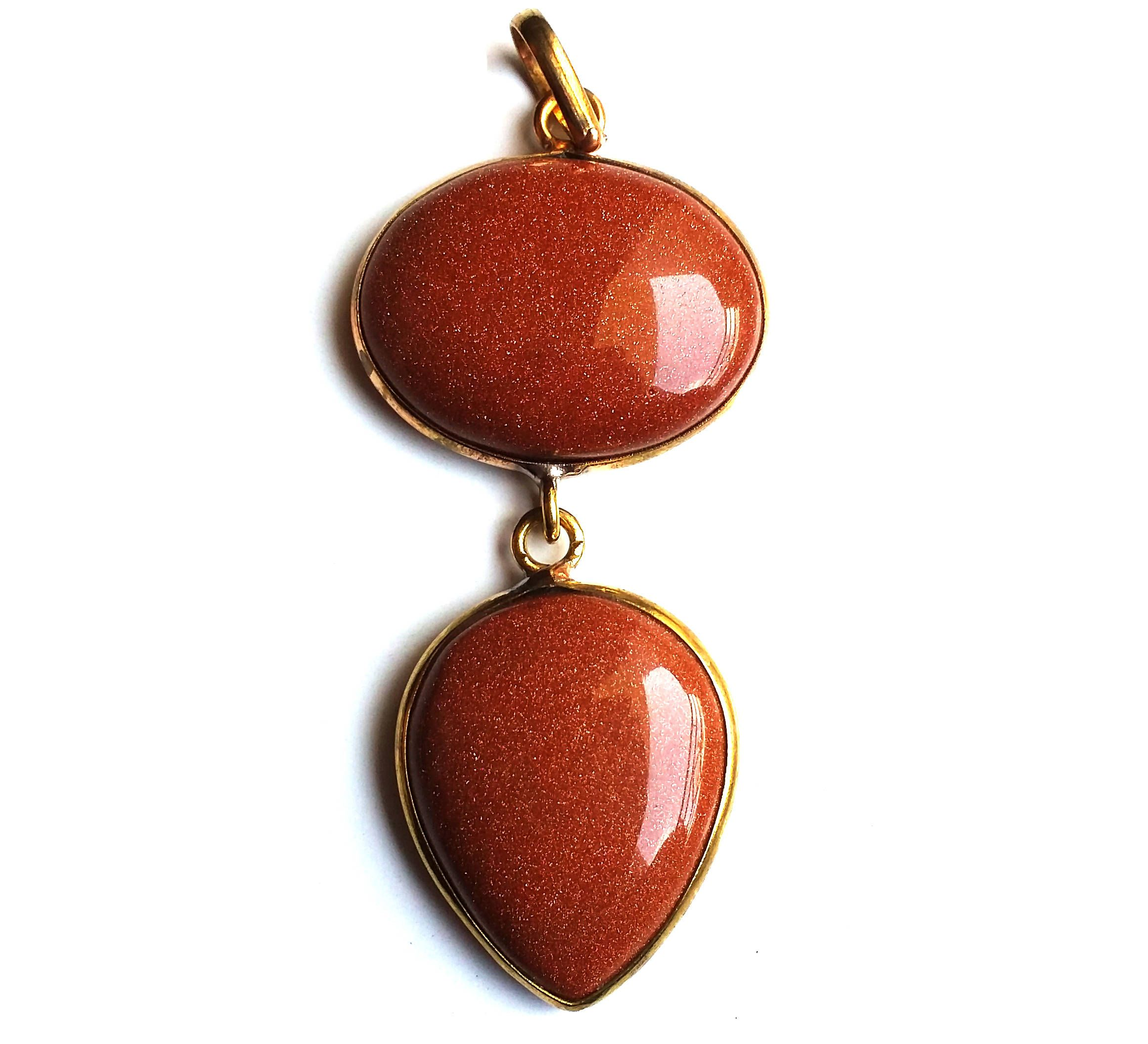 store red gold green pendant and sunstone