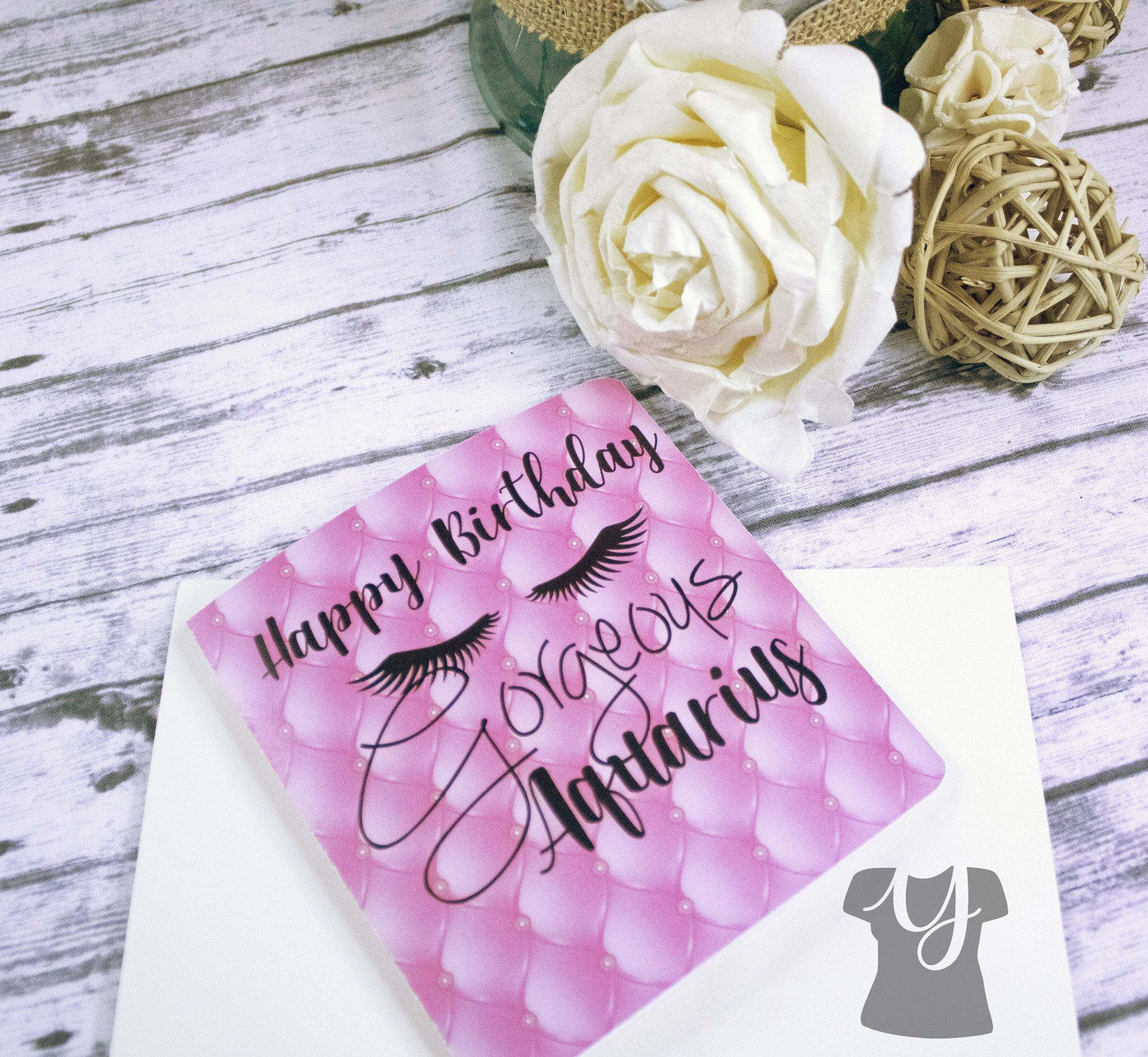 Personalized Zodiac Birthday Card, CHOOSE Your Desired