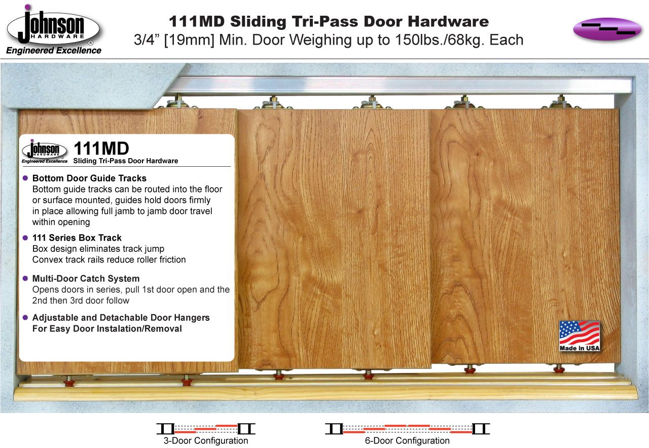 Johnson Hardware 111md Multi Pass Sliding Door Hardware