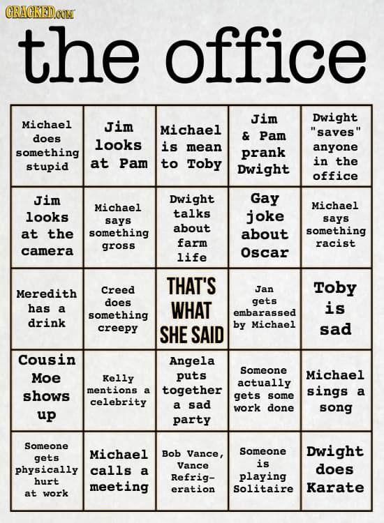 The Office Bingo Harlow Banquet Table Pinterest Office Bingo