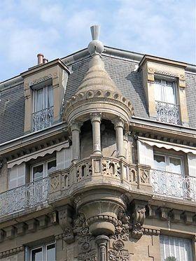 Moulded cement decoration