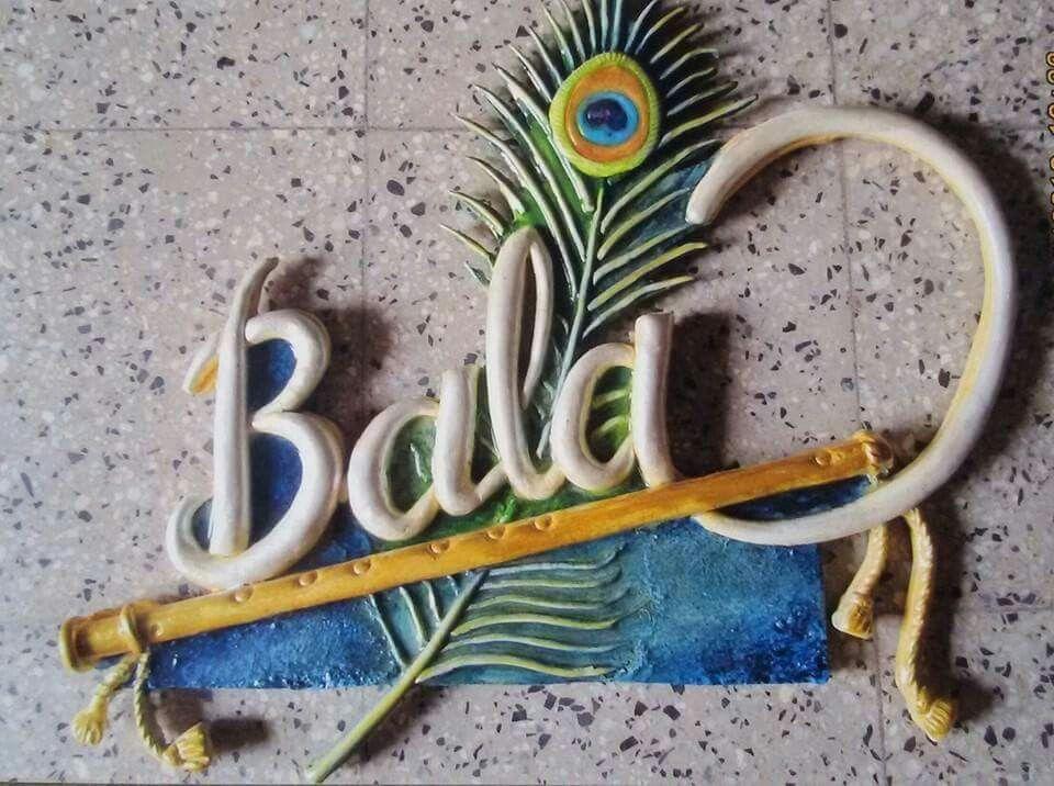 Idea by Prajakta Talathi on DIY Name plate design, Clay
