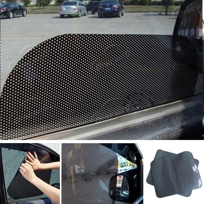 2Pcs Car Curtain Car Side Rear Window Sun Shade Static