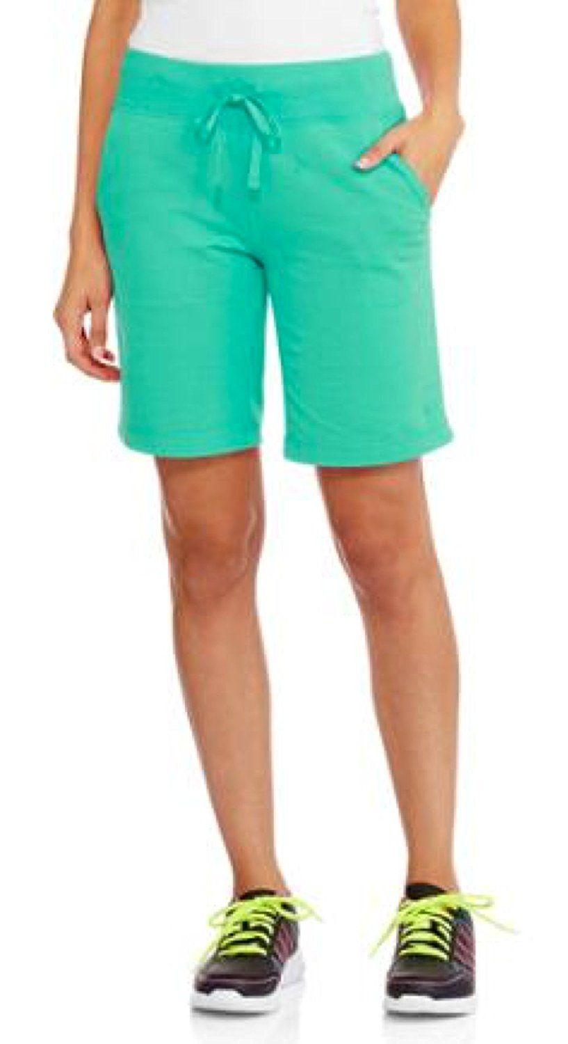9d4a13ab80 Danskin Soft knit Womens Bermuda Shorts with elastic waist and drawstring  -- You can find more details by visiting the image link.