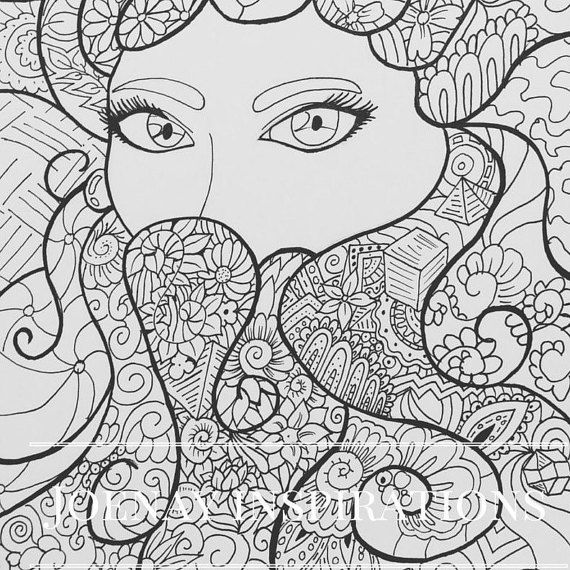 Adult Coloring Book, Printable Coloring Pages, Coloring Pages