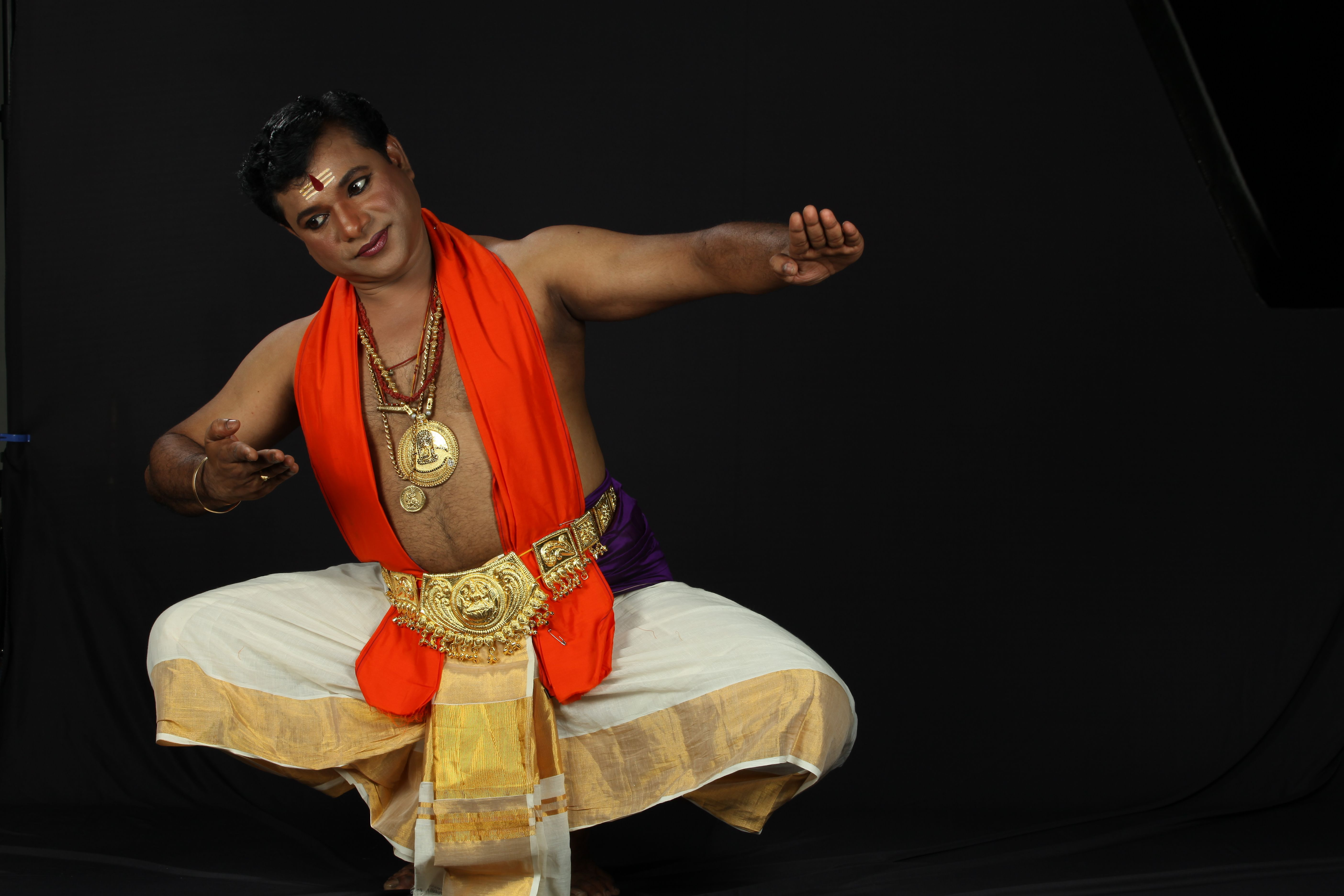 Rlv Anand is famed as one of the leading dancers in Kerala