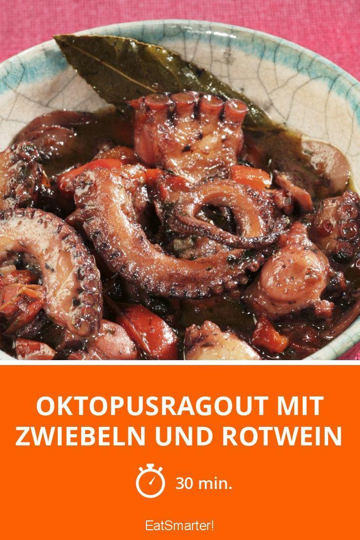 Oktopusragout mit Zwiebeln und Rotwein #easyshrimprecipes