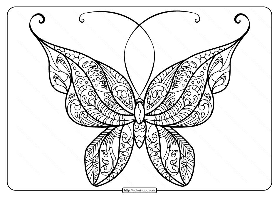 Printable Butterfly Mandala Pdf Coloring Pages 49 Butterfly Coloring Page Butterfly Printable Butterfly Mandala