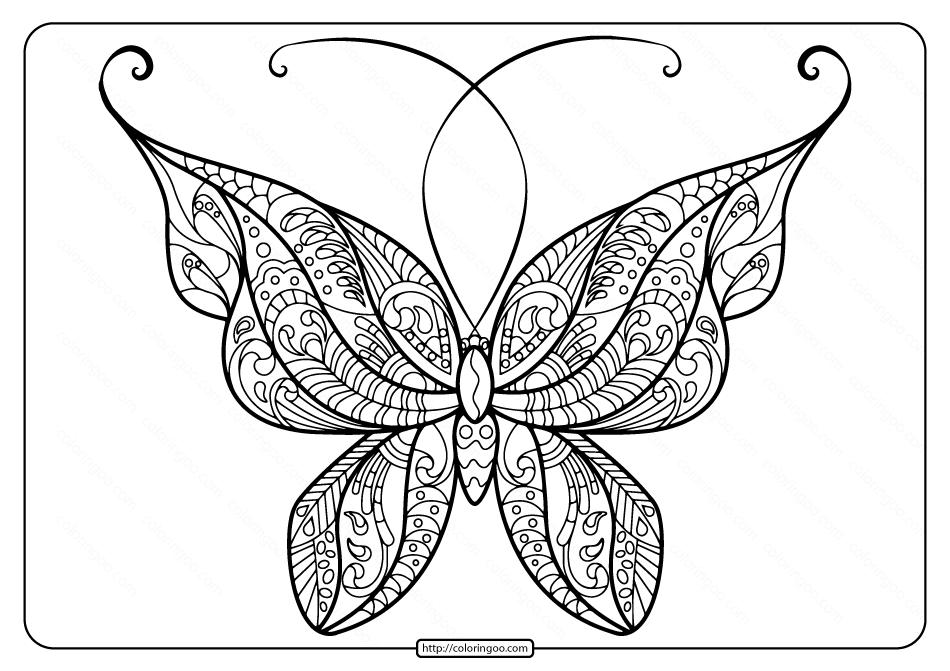 Printable Butterfly Mandala Pdf Coloring Pages 49 Butterfly Coloring Page Butterfly Printable Butterfly Mandala