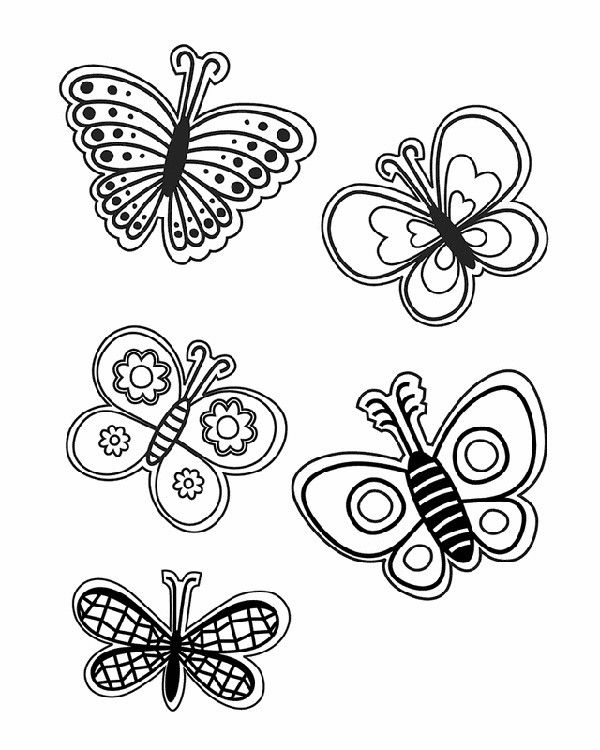 29 Springtime Coloring Sheets | Butterfly coloring page ...