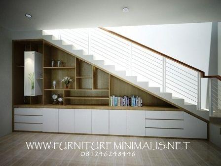 Model Rak Kabinet Bawah Tangga Minimalis Furniture Minimalis