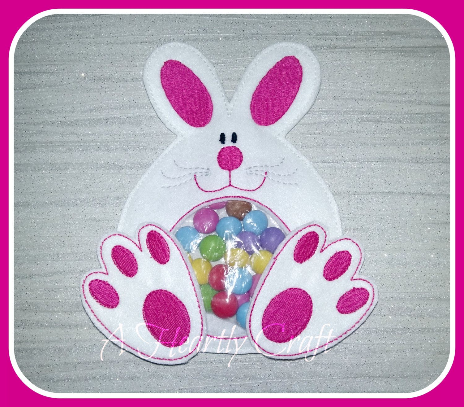 Bunny rabbit sweet candy pouch holder treat holder birthday bunny rabbit sweet candy pouch holder party favor easter party gift celebration negle Images