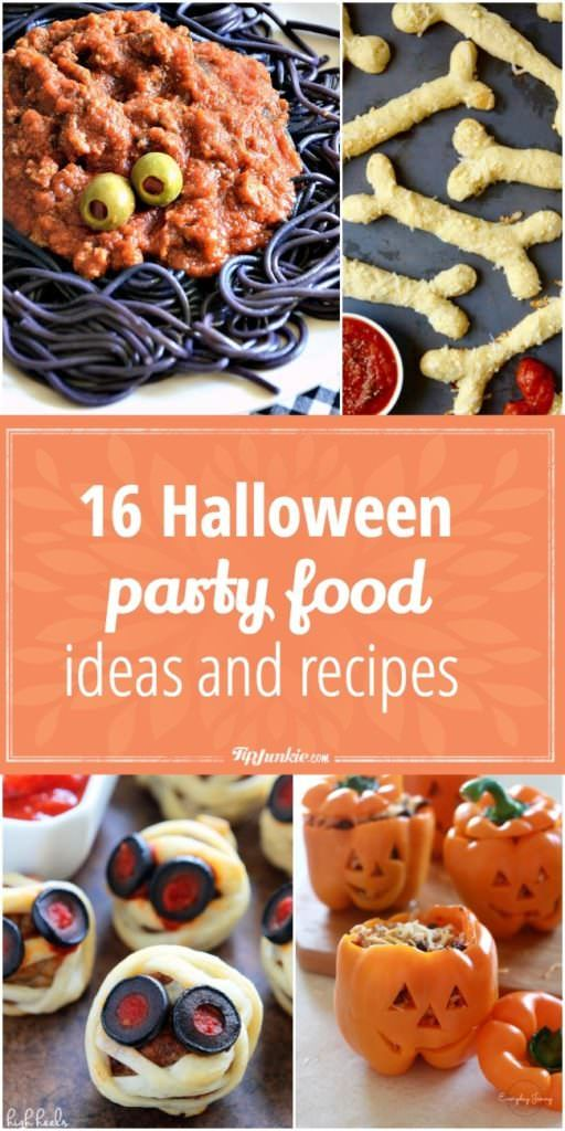16 Halloween Party Food Ideas and Recipes Halloween parties, Food - halloween party foods ideas