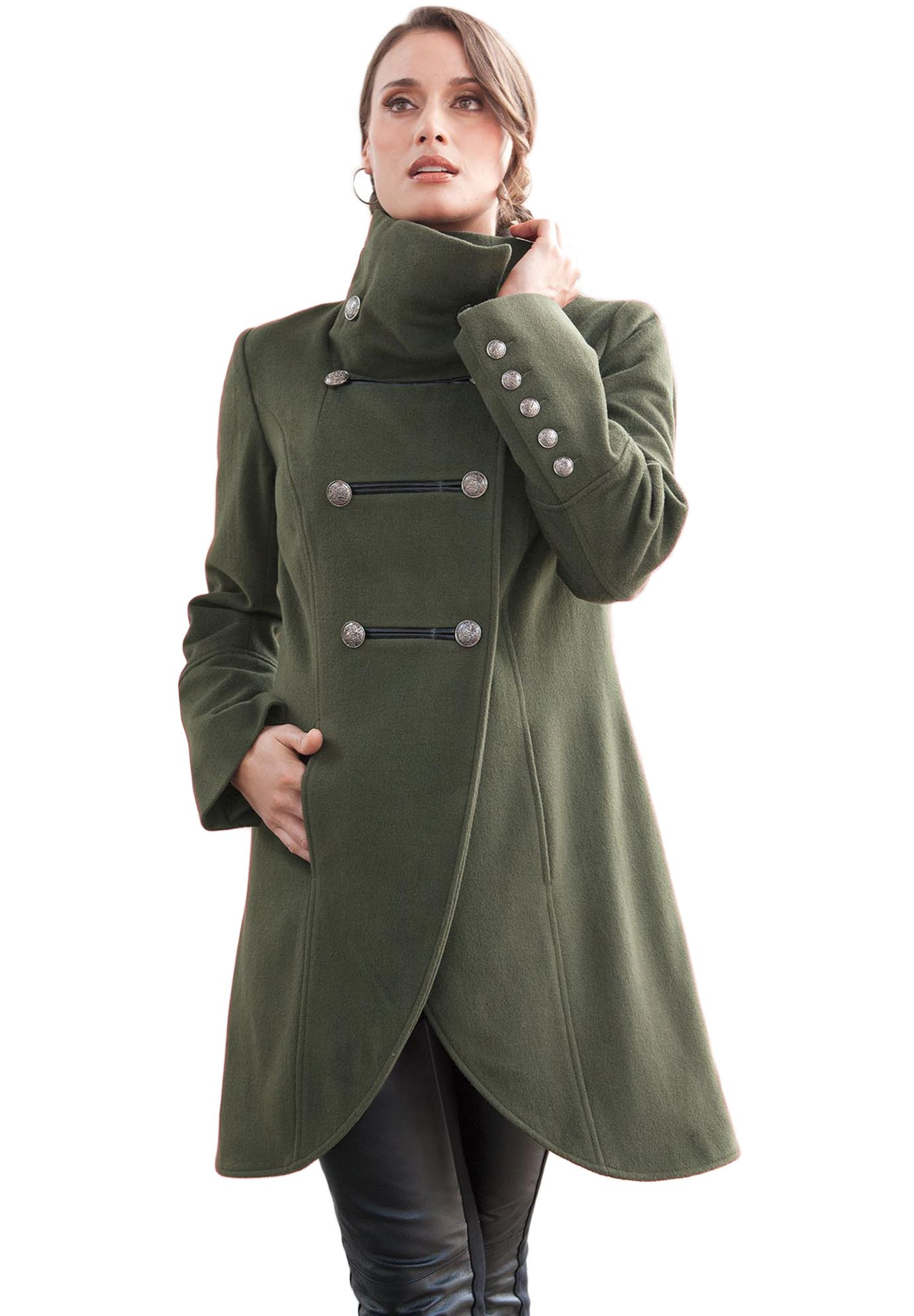 coat in military style | plus size winter coats | jessica london