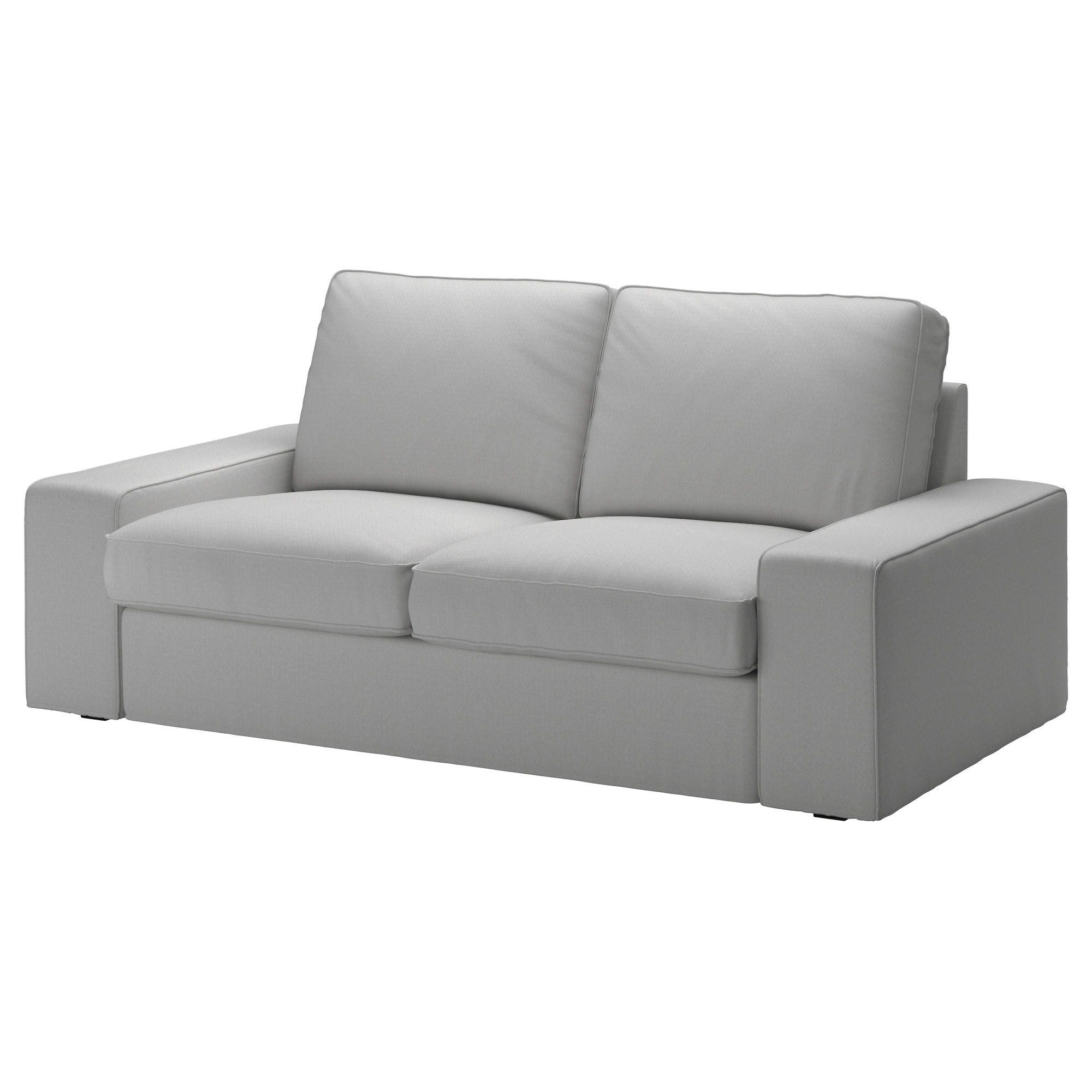 Canapé Ikea Convertible 2 Places kivik loveseat cover - orrsta light gray   ikea sofa