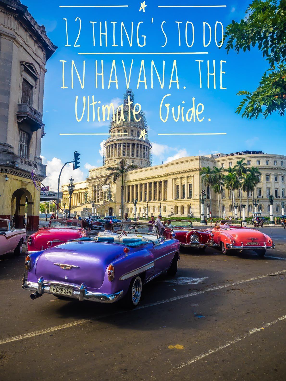 12 Amazing Things to do in Havana, Cuba | Cuba travel ...