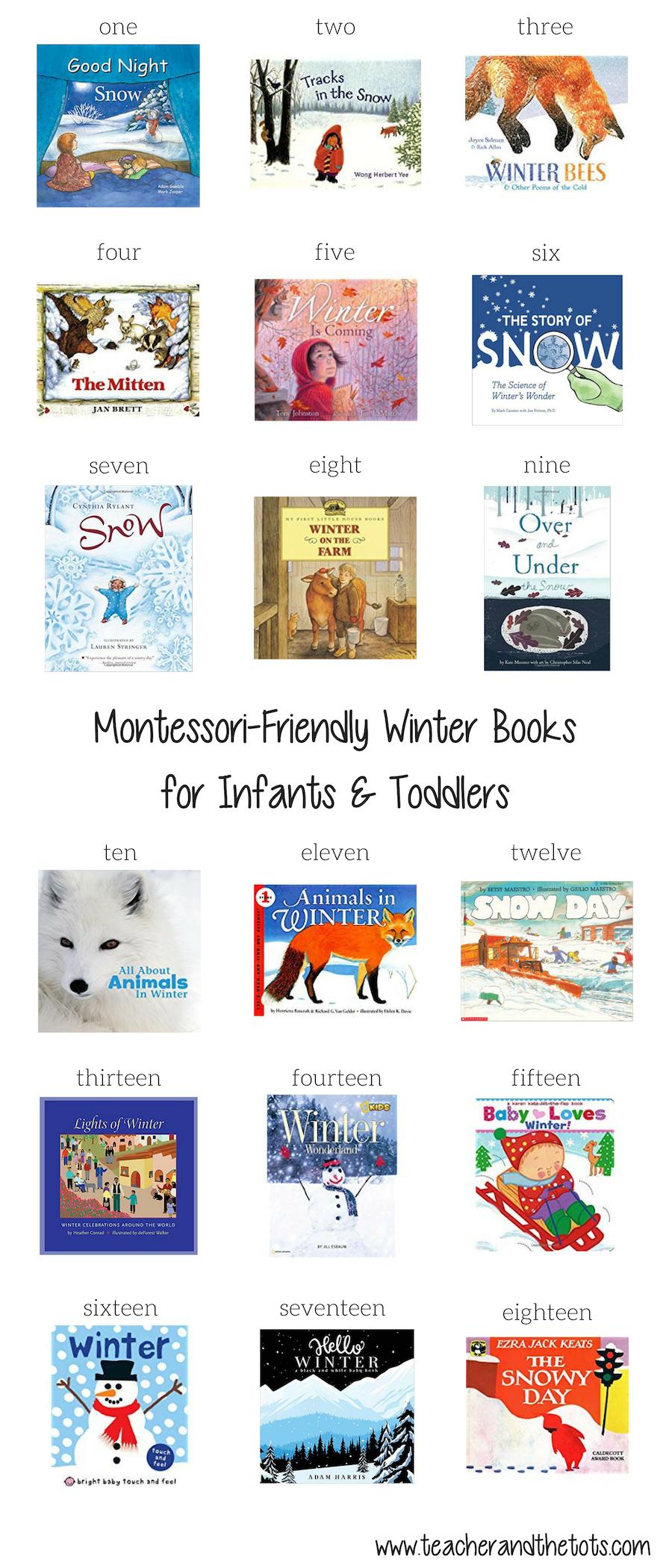 Montessori-Friendly Winter Books - Teacher and the Tots