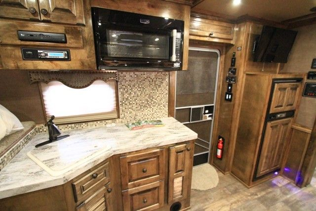 Did you know that you can have MARBLE counter tops and GLASS TILE backsplash in your Outlaw Conversion? #wow #fancy #needit