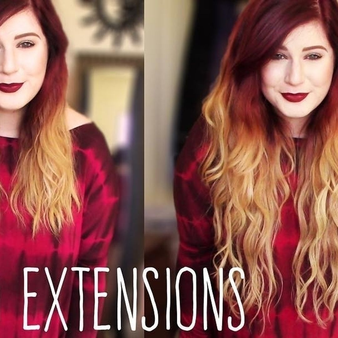 Volume and length in minutes with human hair clipin extensions