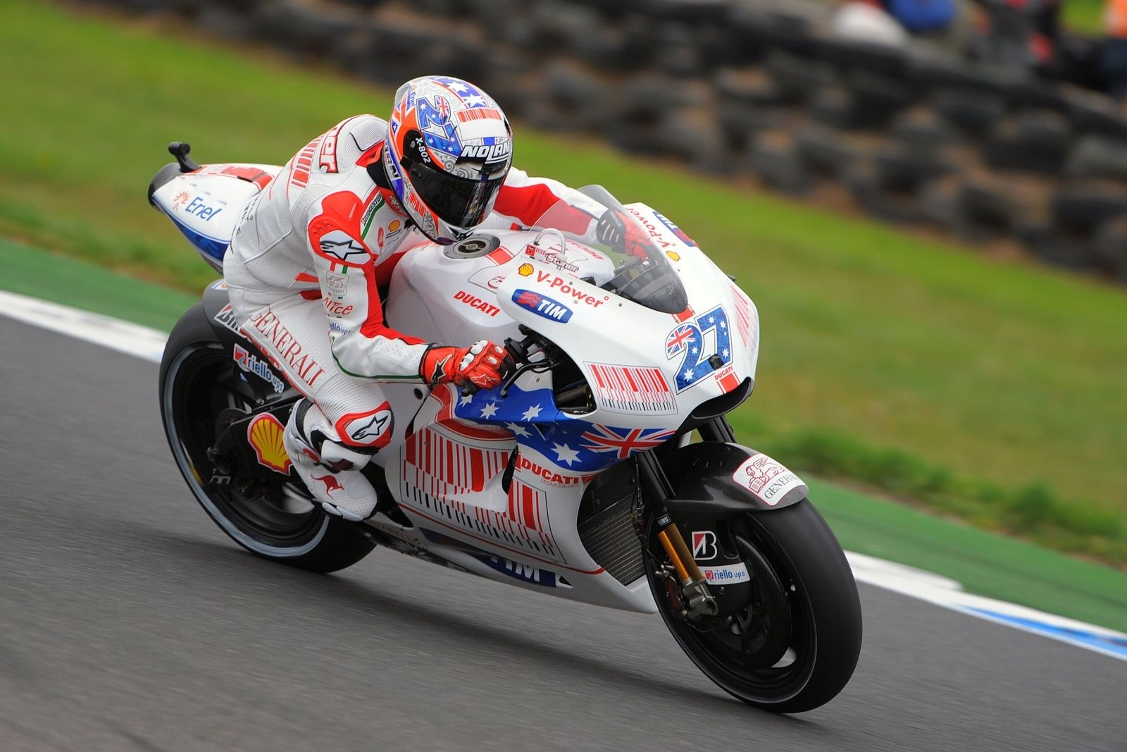 Casey Stoner Action Shots Ducati Motogp Racing Motorcycles