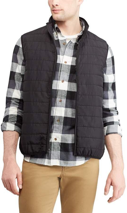 Chaps Mens Classic Fit Quilted Packable Vest