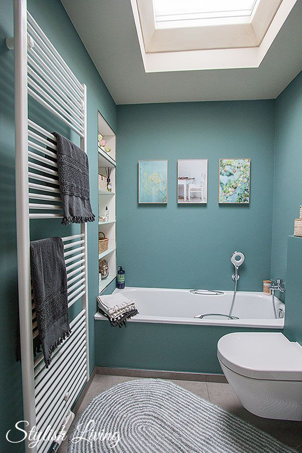 Small Bathroom In Turquoise With Click Light Living Room Decorations Bathroom Color Small Bathroom Home