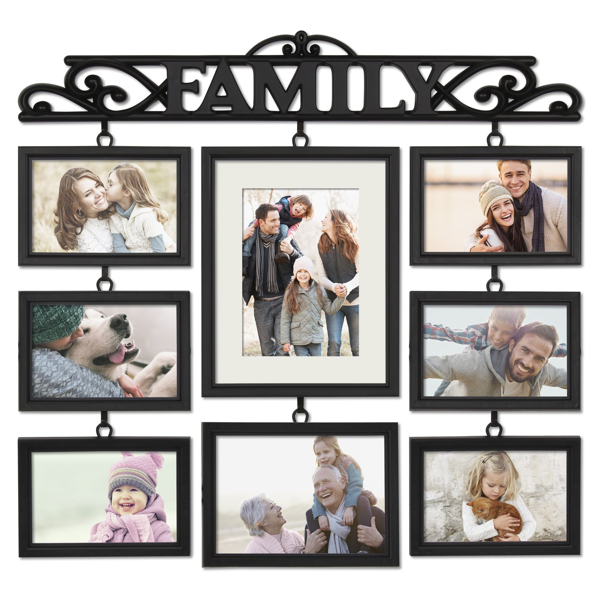 Mainstays Black 8 Opening Family Collage Photo Frame Walmart Com