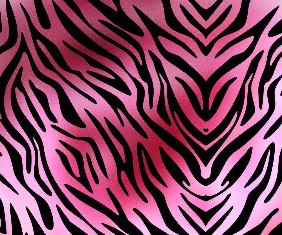 This A Pink Tiger Print Wallpaper