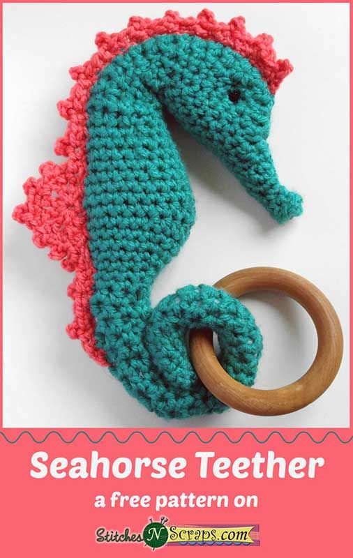 Made with Baby Hugs - so soft and squishy! Seahorse Teether - a free ...