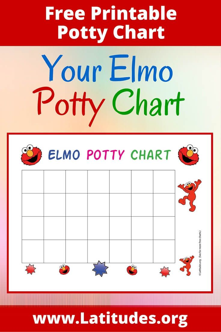 Free printable potty training chart you  ll be as happy elmo when child masters those all important skills it takes  little consistent effort also family pinterest rh