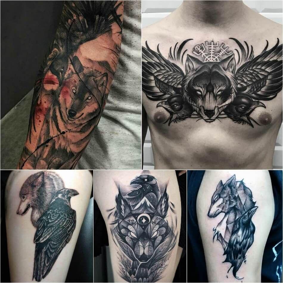 Значение татуировки ворон. Символика тату 50