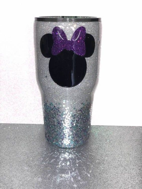 Minnie Glitter Tumbler, Disney Cup, Customized Cup, Mickey Cup, Personalized Tumbler, #disneycups