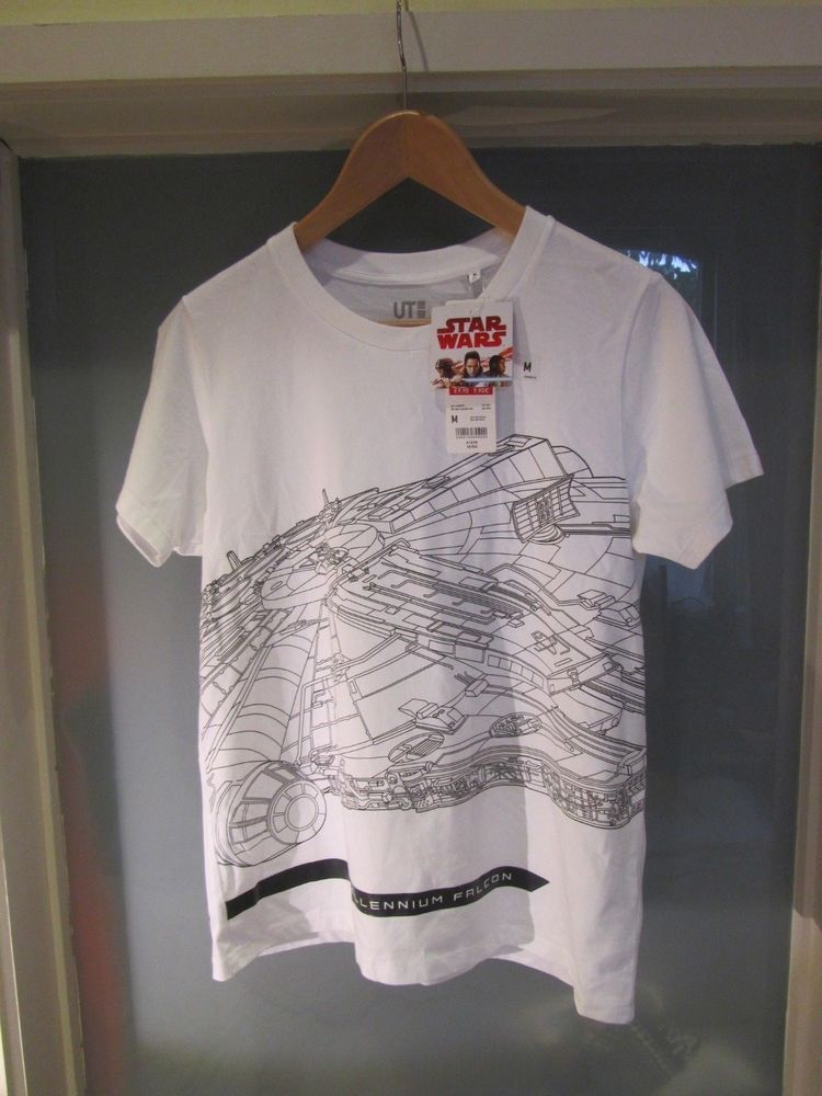 1ee7238a36 UNIQLO Star Wars Millennium Falcon T shirt. White black graphics. Women's  M. #fashion #clothing #shoes #accessories #womensclothing #tops (ebay link)