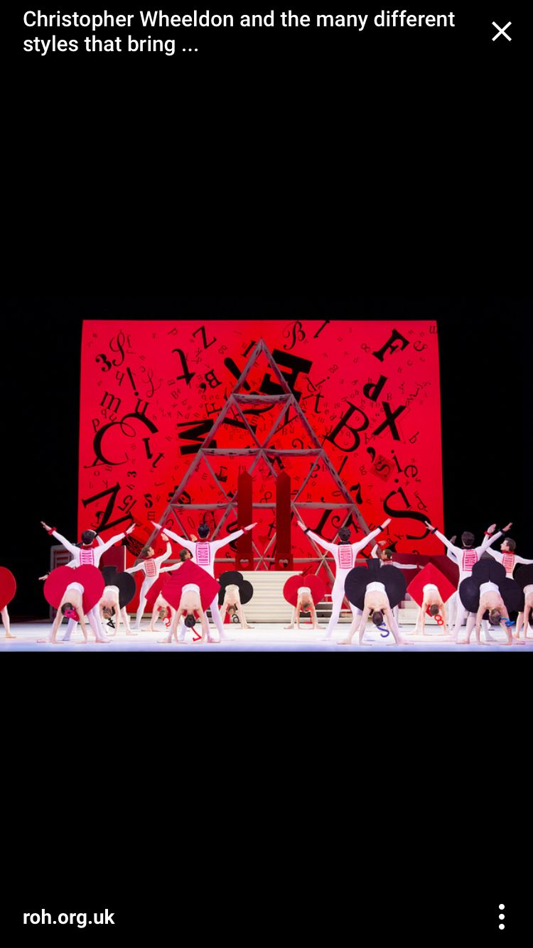 Royal Ballet's Alice's Wonderful Adventures The cards!