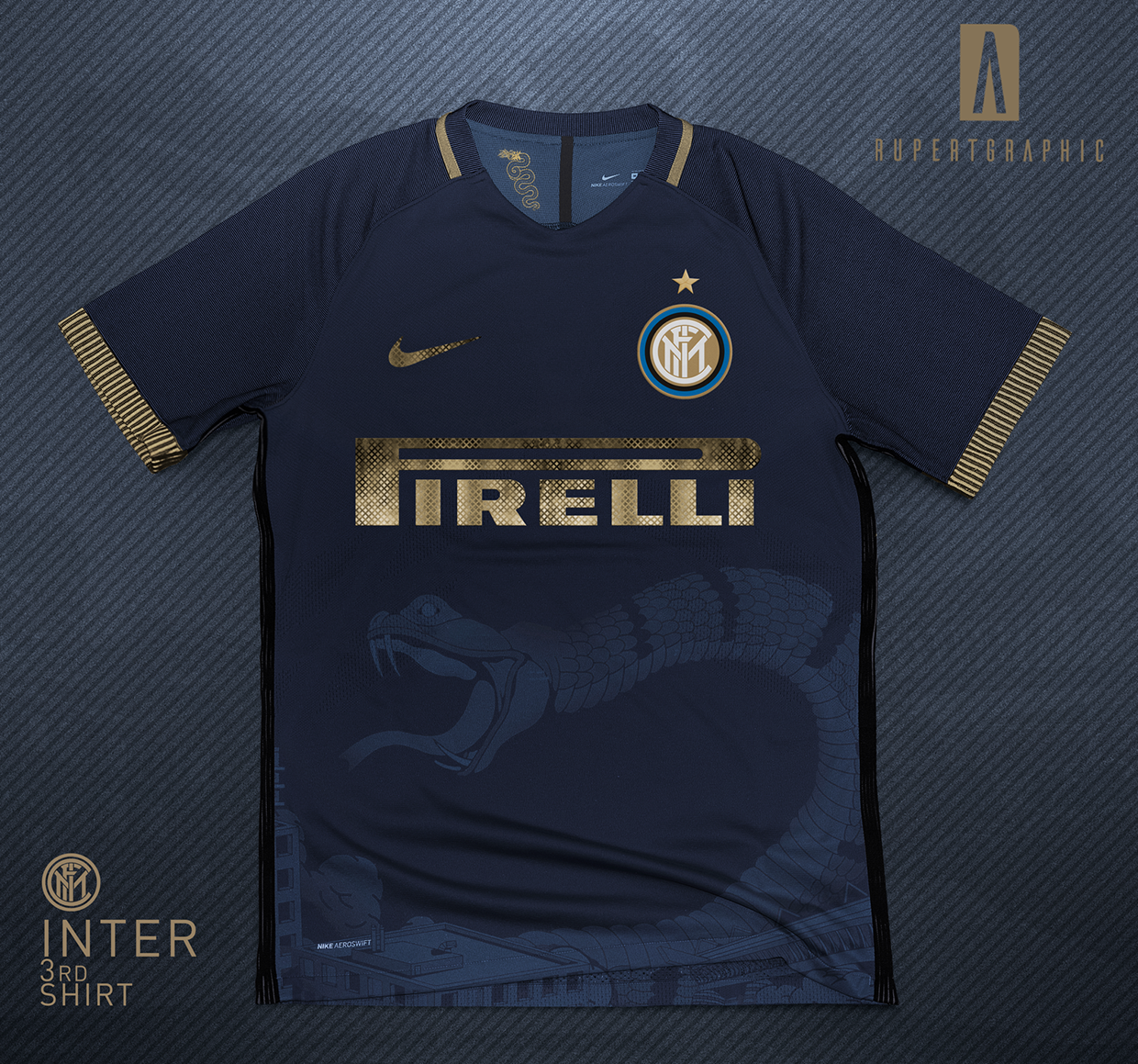 a72bf673eabe2 Italian graphic designer Rupertgraphic has created an amazing Nike concept  shirt for Inter Milan.