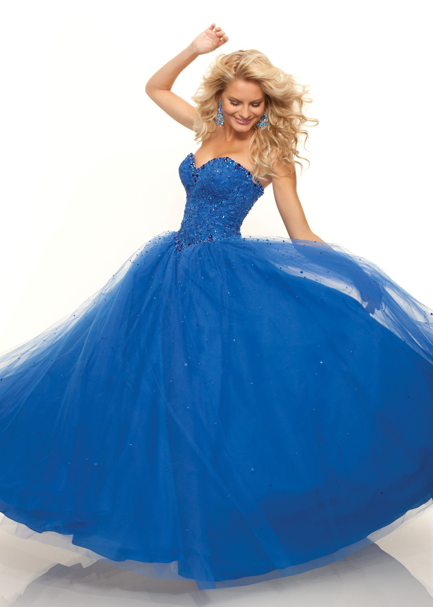 Buy now Paparazzi by Mori Lee 93033 strapless blue ball ...