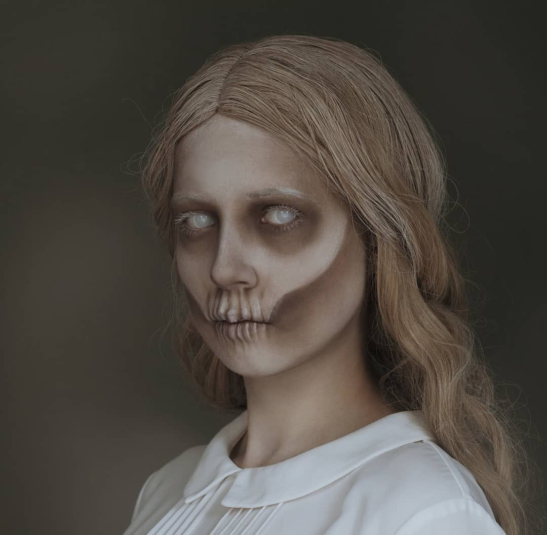 Create Your Own Ghost Costume For Halloween Find Images Accessories A Video Tutorial For Ghost Halloween Costume Halloween Makeup Scary Ghost Costume Diy