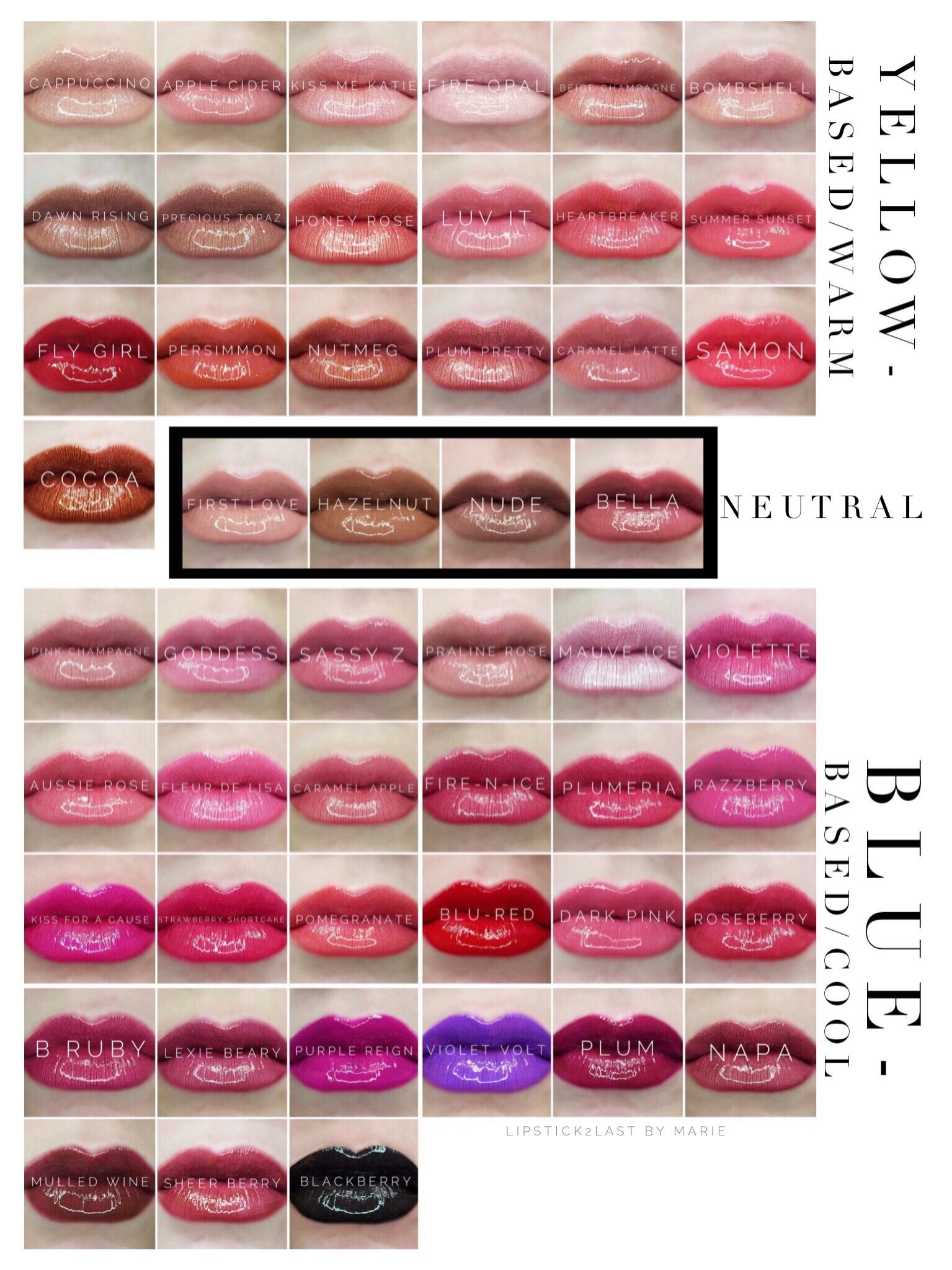 Lipsense Color Chart 2019 Lipsense Color Chart Lipsense Colors Lipsense Cool And
