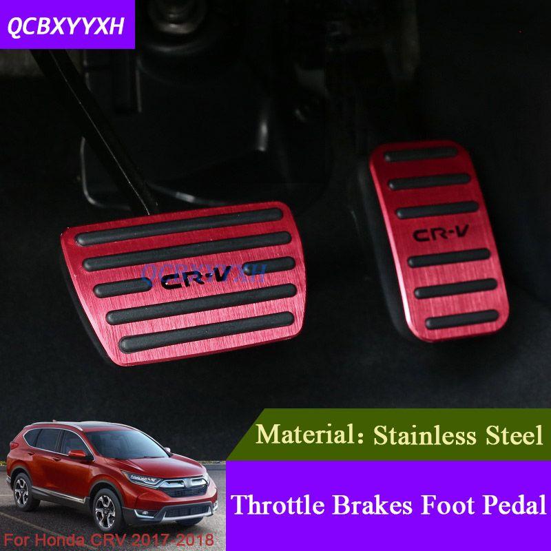 2PCS Brake Pedal+Accelerator Pedal Cover Trim For Honda CRV CR-V 2017 2018