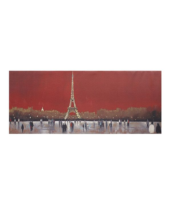 Look at this Red Paris LED Canvas Wall Art on #zulily today!