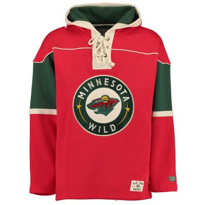 Men s Minnesota Wild Old Time Hockey Natural Vintage Lacer Heavyweight  Pullover Hoodie 68335f46880