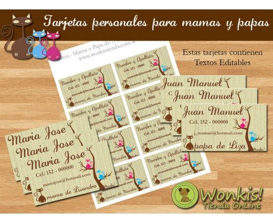 Gatitos - Tarjetas Personales para Padres http://www.wonkistienda.com.ar/gatitos_tarjetas_personales_para_padres