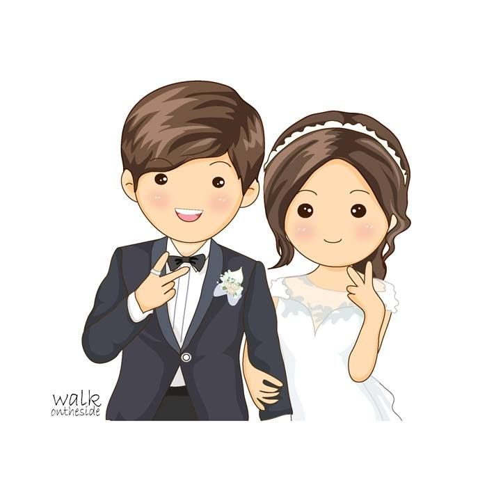 From Facebook Fanspage Walkontheside Credit To Walkontheside Walkontheside We Already Got Wedding Couple Cartoon Wedding Illustration Cute Love Cartoons