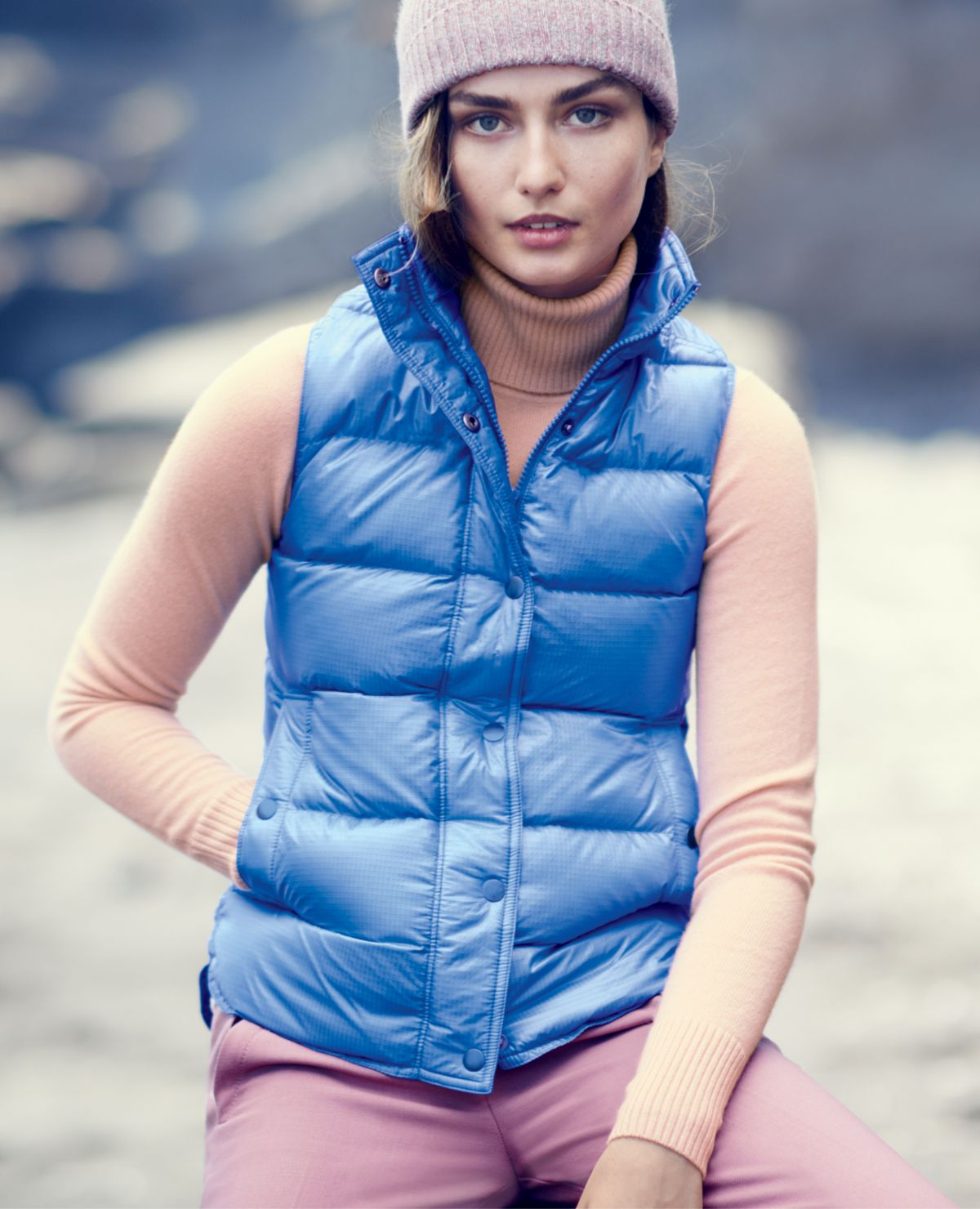 be11c1ef133b OCT  14 Style Guide  J.Crew women s shiny puffer vest and collection  cashmere turtleneck.