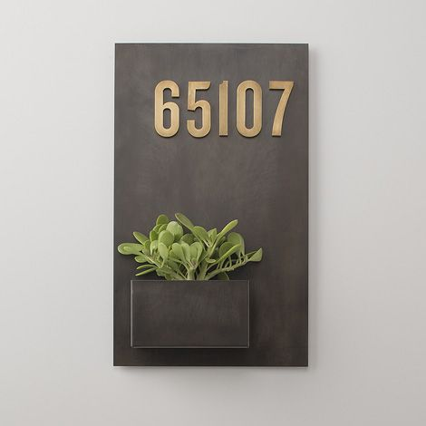 Steel planter with house numbers For the Home Pinterest