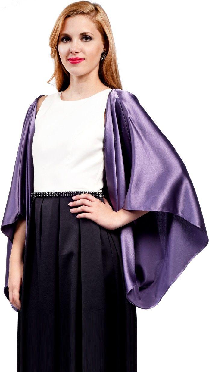 DRESSEOS - Original chaqueta estilo kimono de seda con brillo en ...