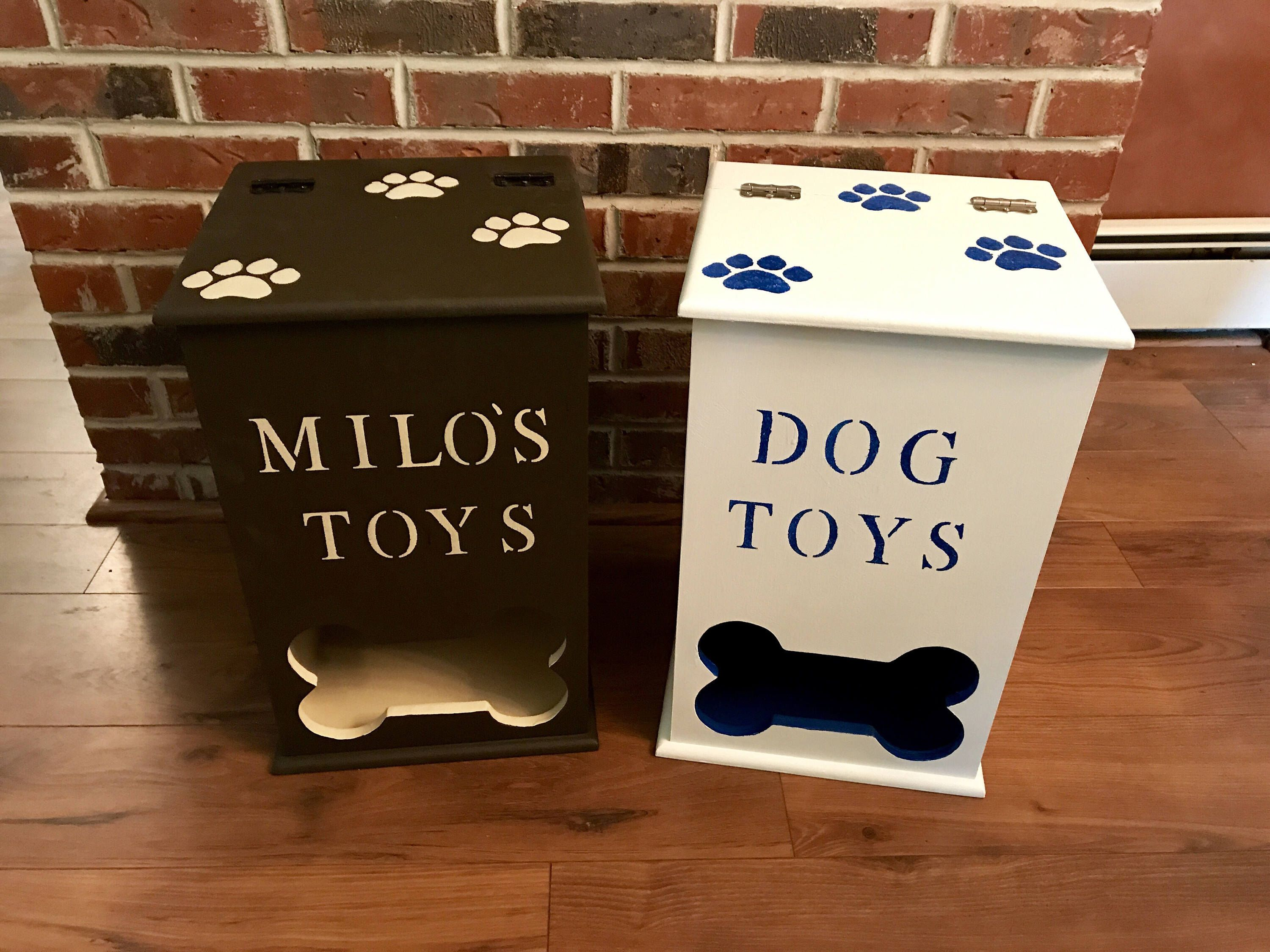 Dog Toy Box Dog Toy Bin Dog Toy Storage Pet Toy Storage Rustic