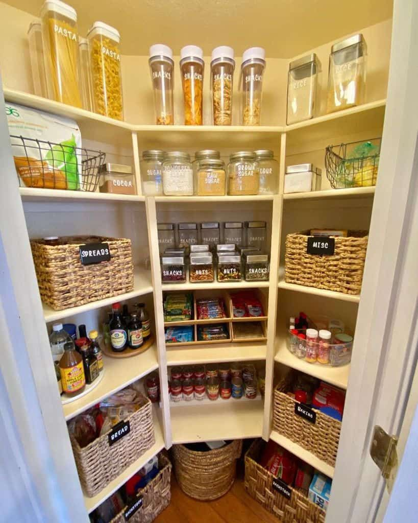The Top 49 Pantry Shelving Ideas Home Organization Ideas Pantry Shelving No Pantry Solutions Corner Pantry